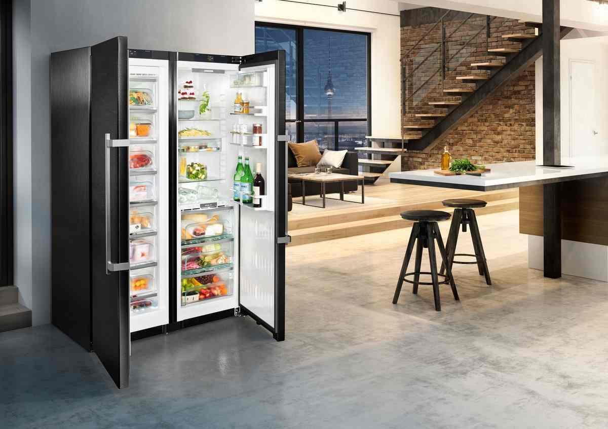 Side By Side Einbau Kühlschrank Liebherr : Liebherr sbsbs side by side günstig online kaufen